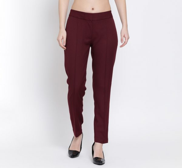 Buy Prune Straight Pant Power Dressing For Women - Office & You