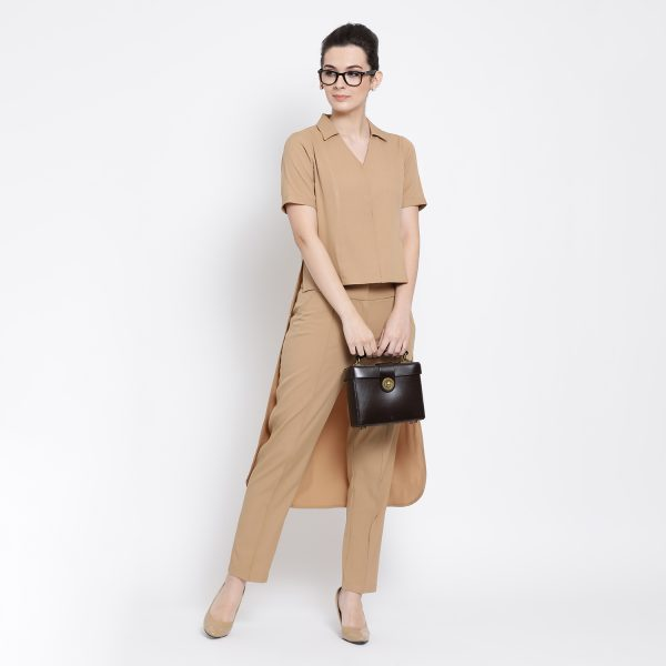 Buy Beige Asymmetric Shirt Office Wear For Women - Office & You