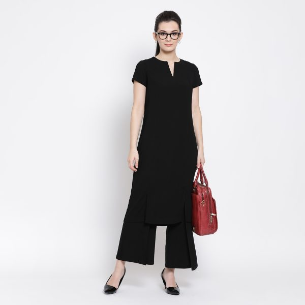 Buy Black Dress with Slit Western Formals For Women - Office & You