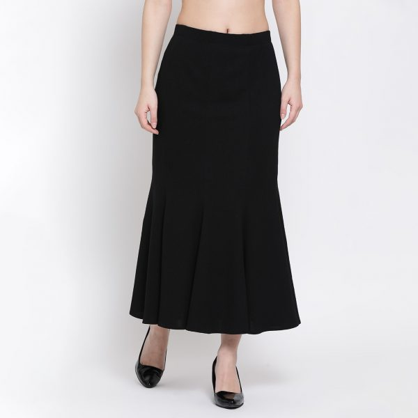 Buy Black Lycra Fish Cut Skirt Work Wear For Women - Office & You