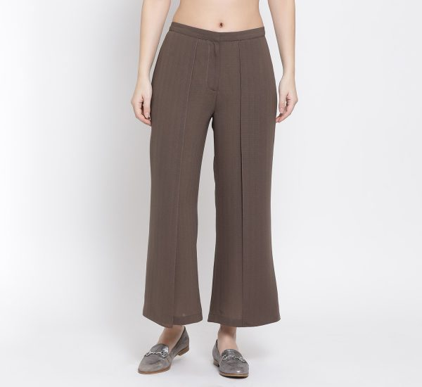 Buy Earth Brown Flap Palazzo Work Wear For Women - Office & You
