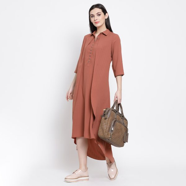 Buy Rosewood Double Layer Long Dress Work Wear For Women