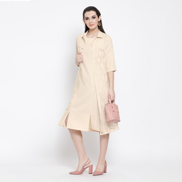 Buy Off White Silk Linen With Flower Net Jacket Work Wear For Women