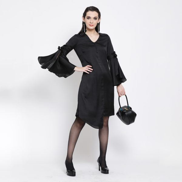 Buy Black Tunic With Bell Sleeve Work Wear For Women - Office & You