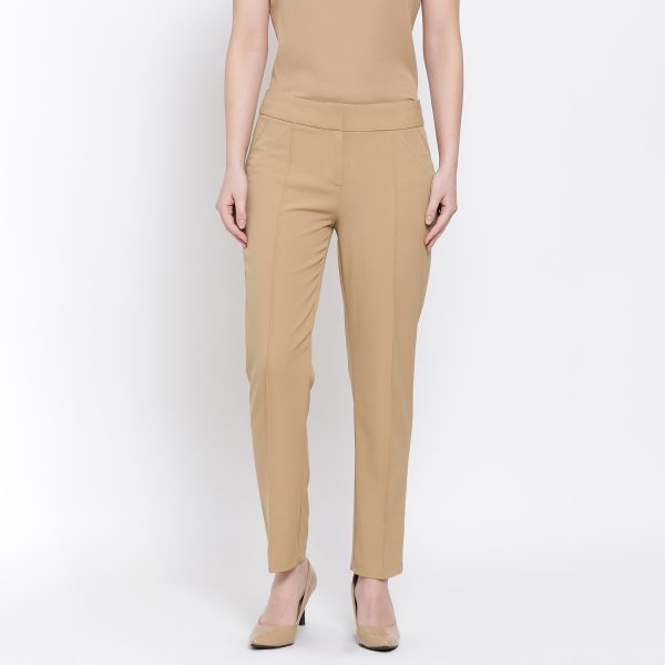 Buy Beige Straight Pant Office Weear For Women - Office & You