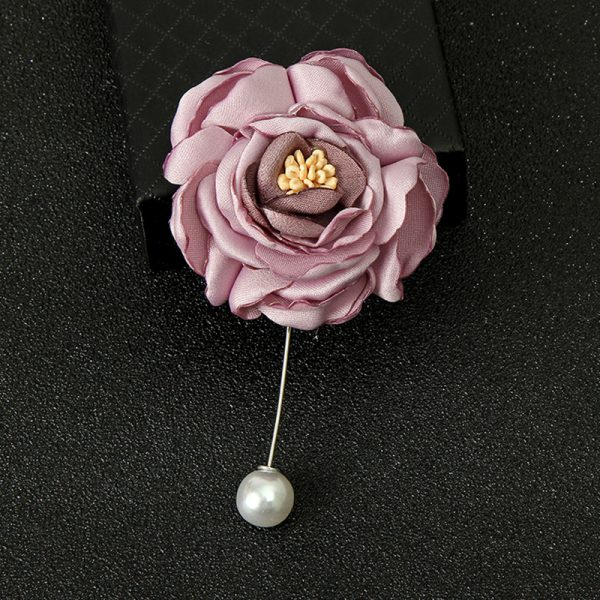 Buy Pink single flower broach For Women - Office & You