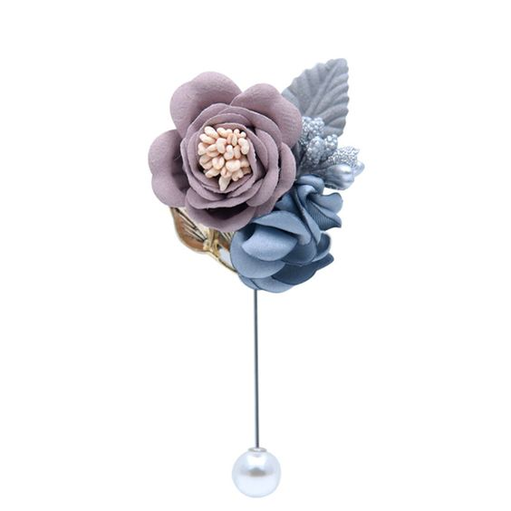 Buy Pastel blue & pink fabric flower broach For Women - Office & You
