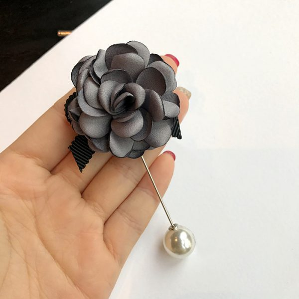 Buy Grey flower with ribbon broach For Women - Office & You