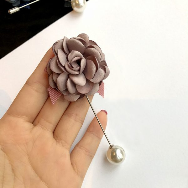 Buy Pink flower with ribbon broach For Women - Office & You