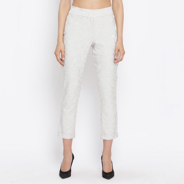 Buy Ivory Straight Pant With Turnup Western Formals For Women