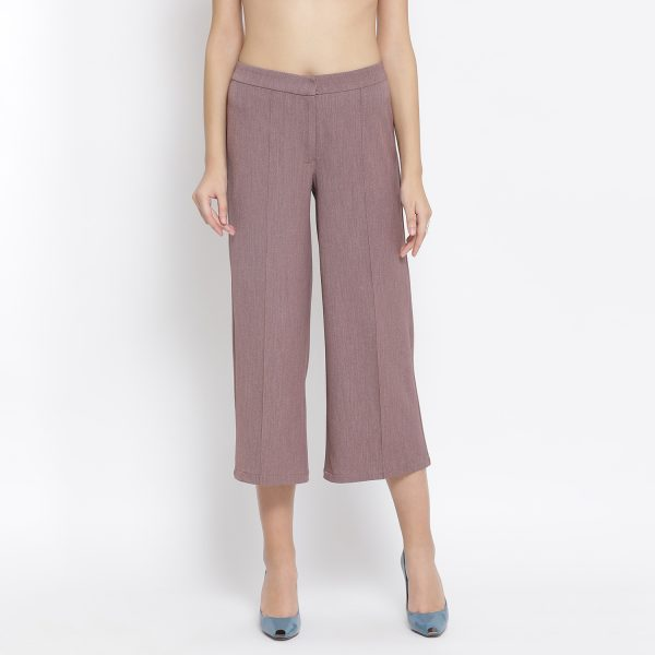 Buy Vintage Pink Pant Western Formals For Women - Office & You