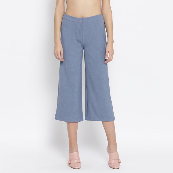Buy Vintage Blue Pant Work Wear For Women - Office & You