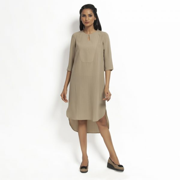 Buy Beige Tunic With Yoke Work Wear For Women - Office & You