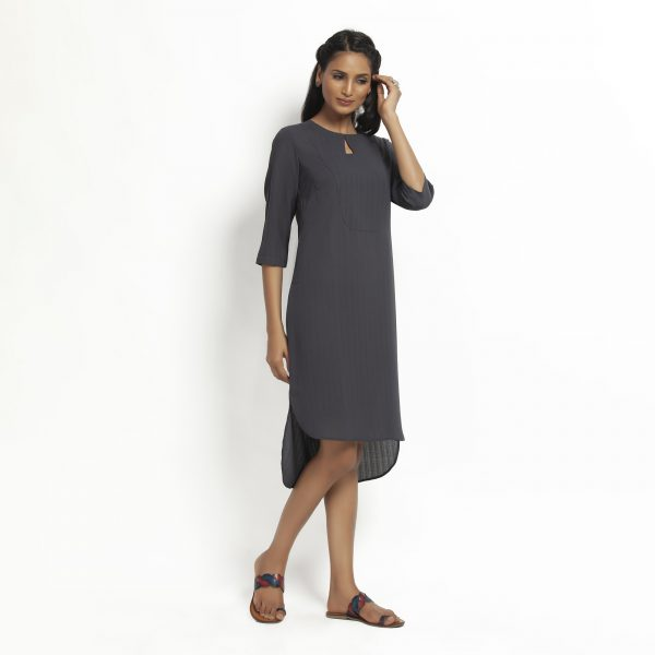 Dark Grey Tunic With yoke